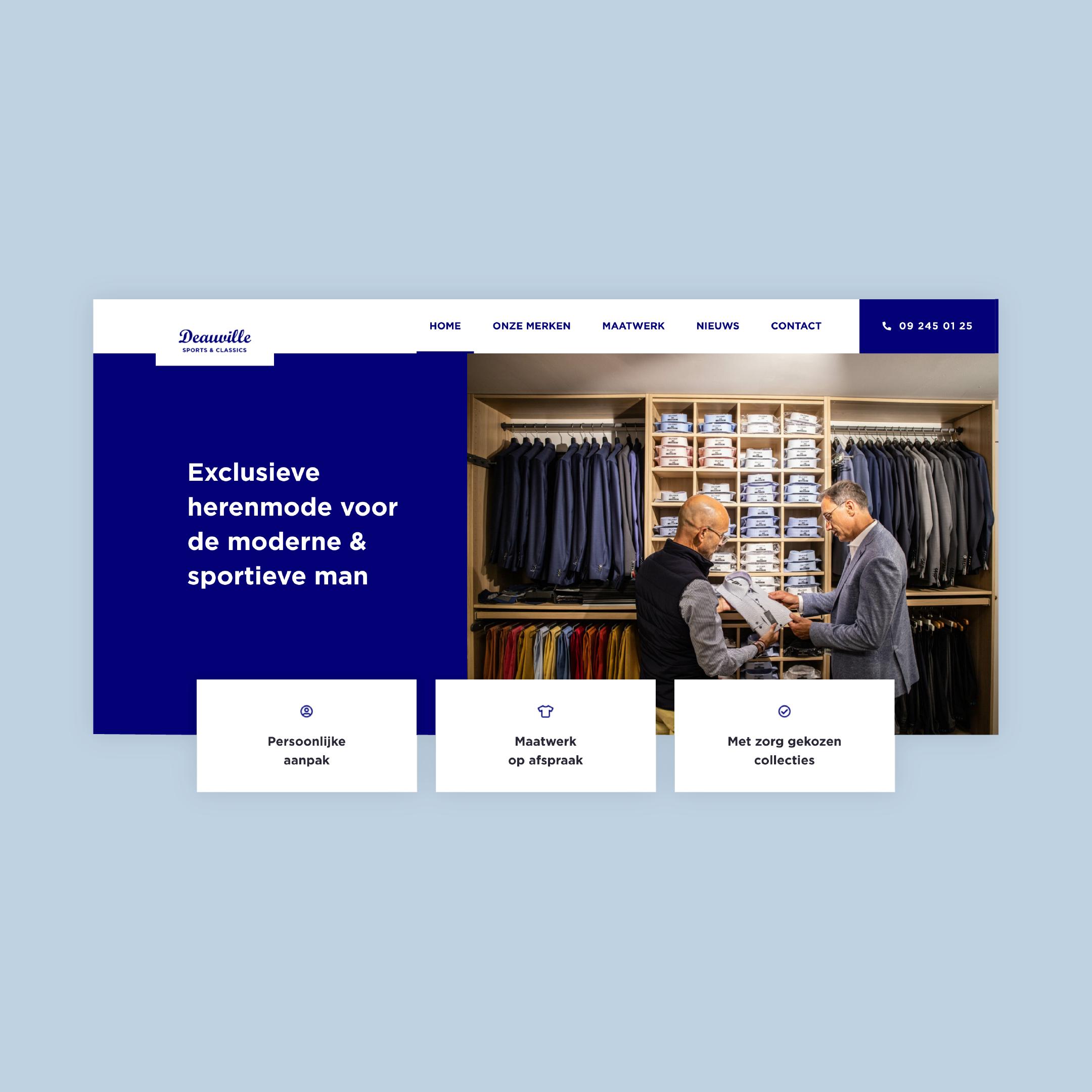 Deauville Sports & Classics webdesign