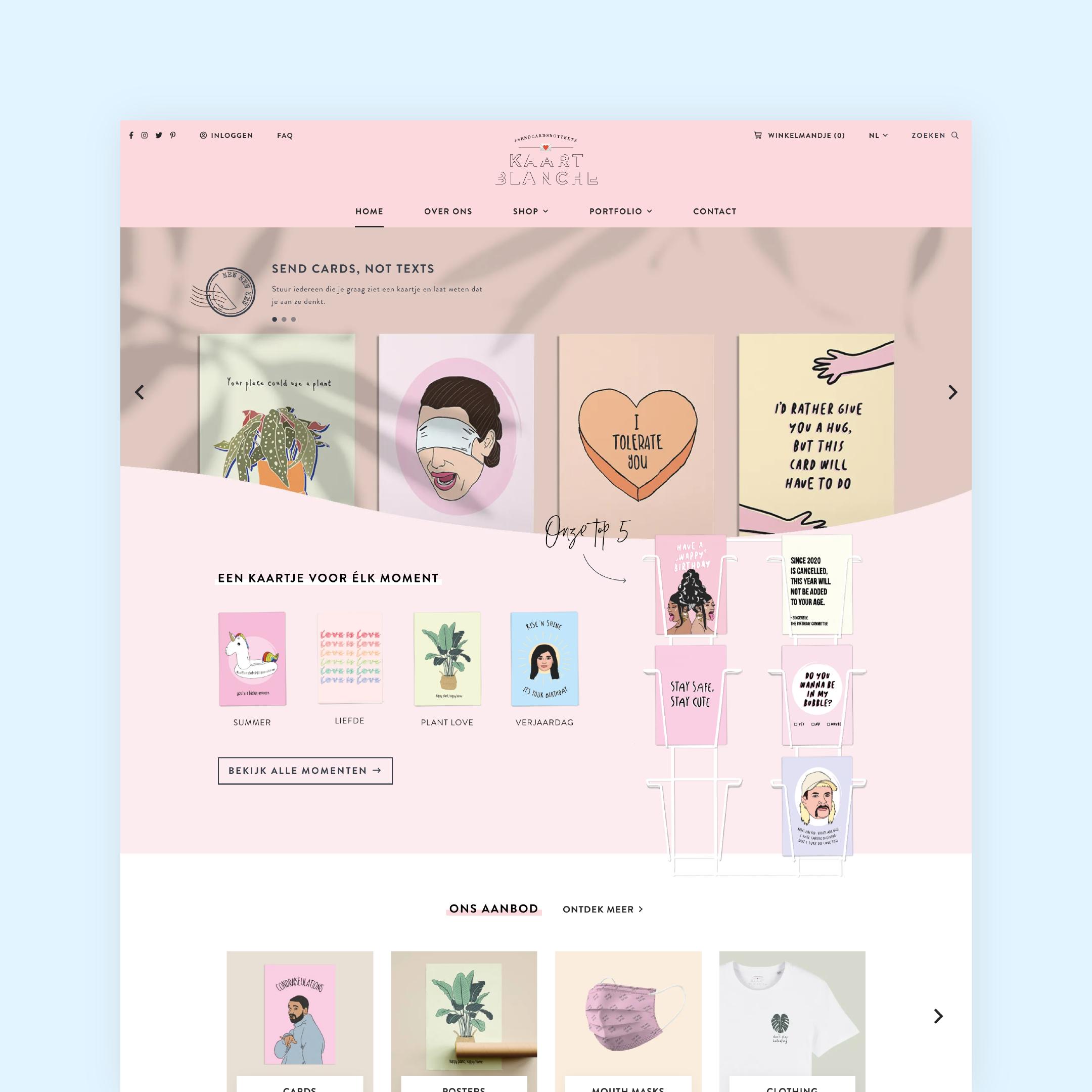 Kaart Blanche - webdesign