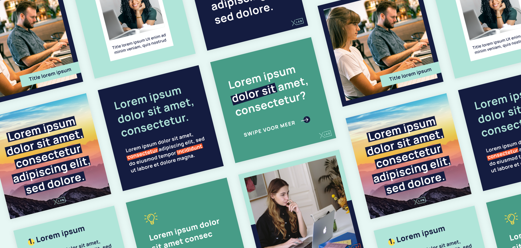 Social media templates by LDS