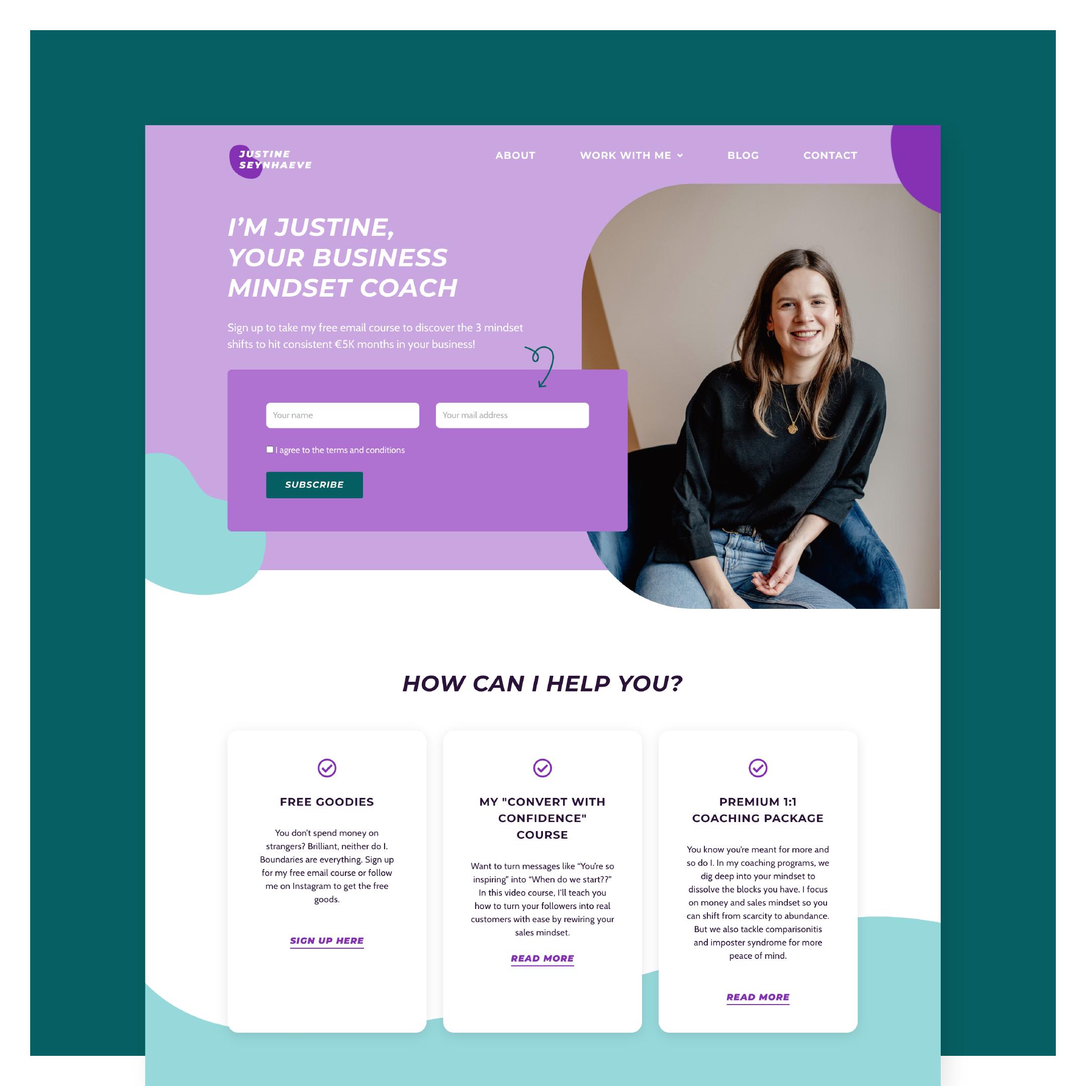 Website Justine Seynhaeve